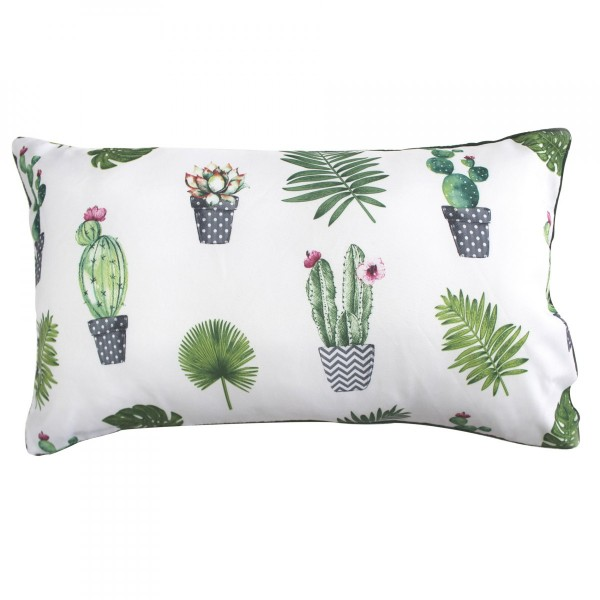 Coussin rectangulaire Cactus Party Vert