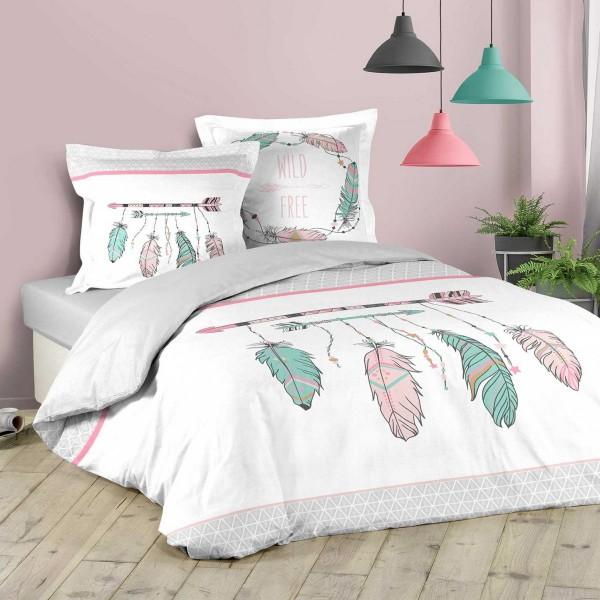 Bettwäsche Aus Baumwolle 200 Cm Indian Summer Weiß Bettwaren