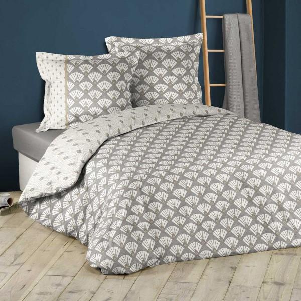 housse de couette et deux taies coton 260 cm art deco. Black Bedroom Furniture Sets. Home Design Ideas