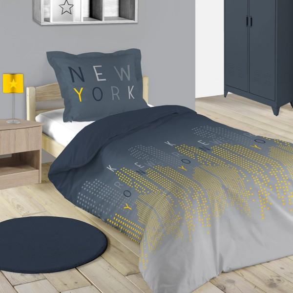 Bettwäsche Aus Baumwolle 140 Cm Brooklyn Grau Bettwaren Eminza