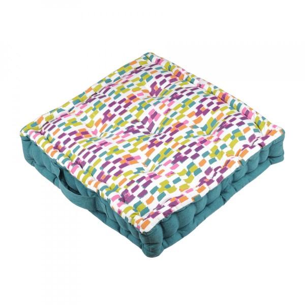 coussin de sol jacara multicouleur textile d 39 ext rieur. Black Bedroom Furniture Sets. Home Design Ideas