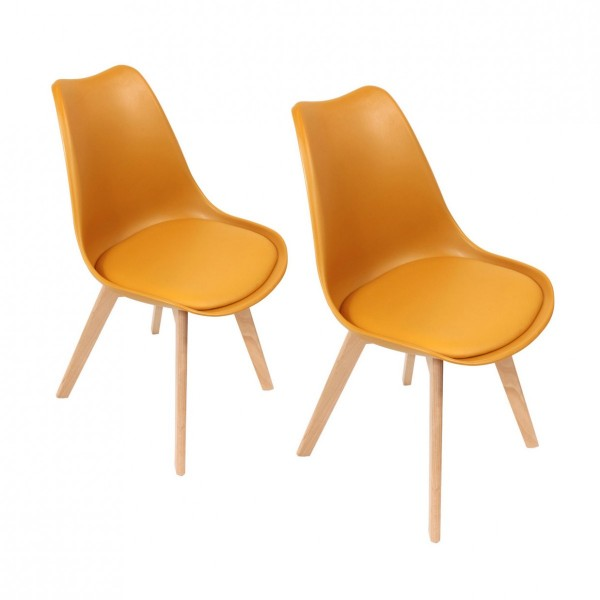 Lot de 2 chaises Stuffed Jaune moutarde