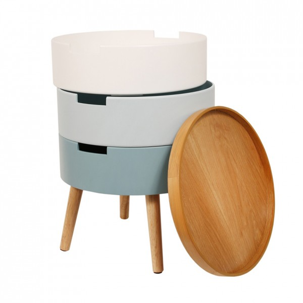table de chevet coffre bleu table eminza. Black Bedroom Furniture Sets. Home Design Ideas
