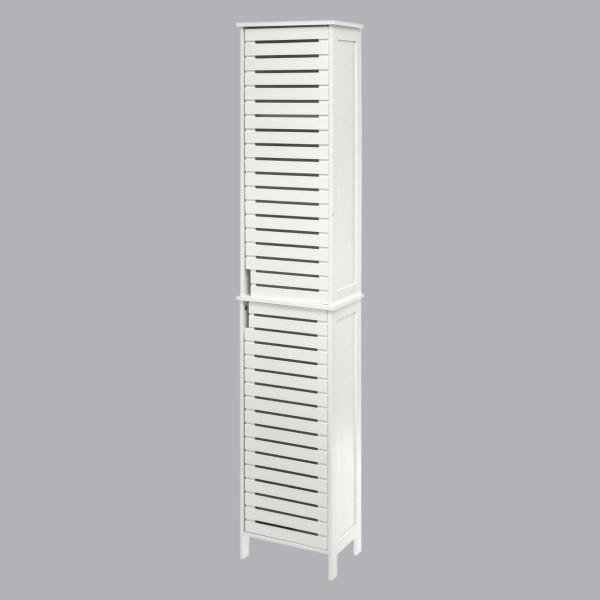 Meuble colonne salle de bain Sicela Blanc