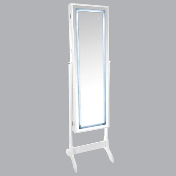 Grand Miroir LED Range Bijoux Lumiz Blanc