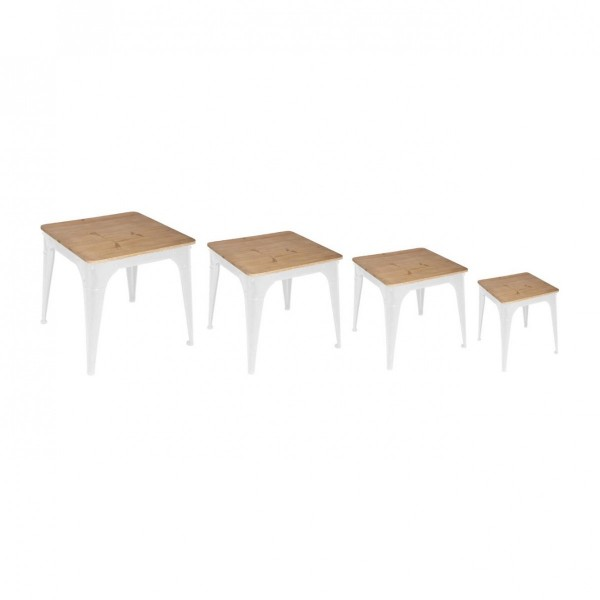 Lot de 4 tables à café Torof Blanches