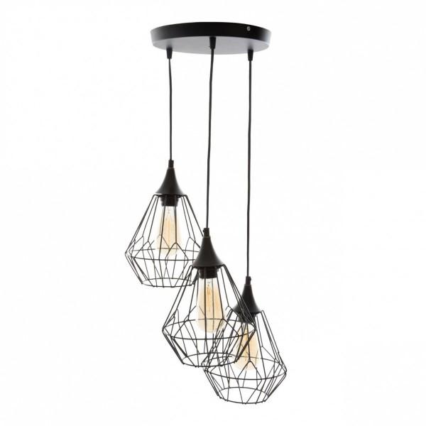 suspension m tal filaire noire luminaire eminza. Black Bedroom Furniture Sets. Home Design Ideas