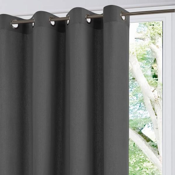 rideau tamisant 140 x 260 cm iza gris anthracite. Black Bedroom Furniture Sets. Home Design Ideas