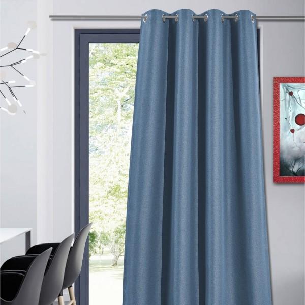 rideau occultant 135 x 240 cm hugo bleu marine rideau. Black Bedroom Furniture Sets. Home Design Ideas