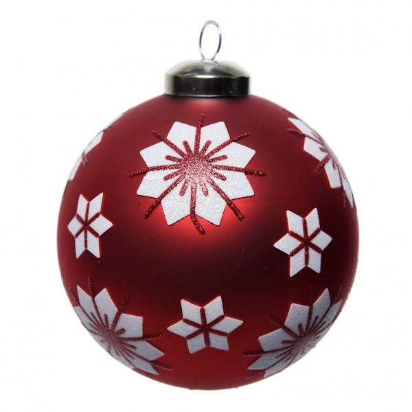 Palline Di Natale.Confezione Di 3 Palline Di Natale O80 Mm Boelia Rosso Addobbi Albero Di Natale Eminza