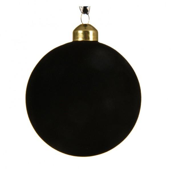 Lot de 3 boules de Noël (D80 mm) Steffy Noir   Boule et déco de