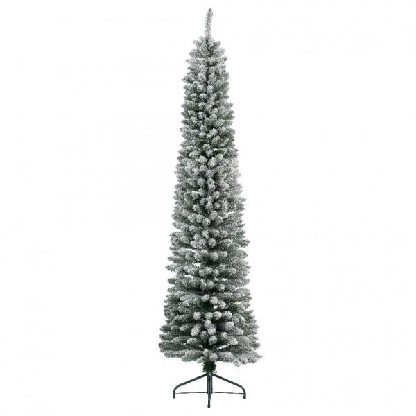 k nstlicher weihnachtsbaum narrow h150 cm gr n verschneit. Black Bedroom Furniture Sets. Home Design Ideas