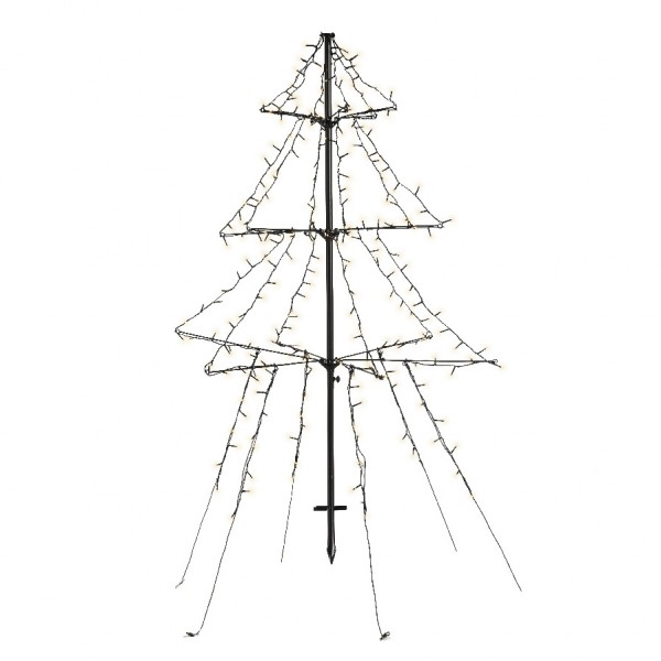 Árbol luminoso Blanco cálido 240 LED