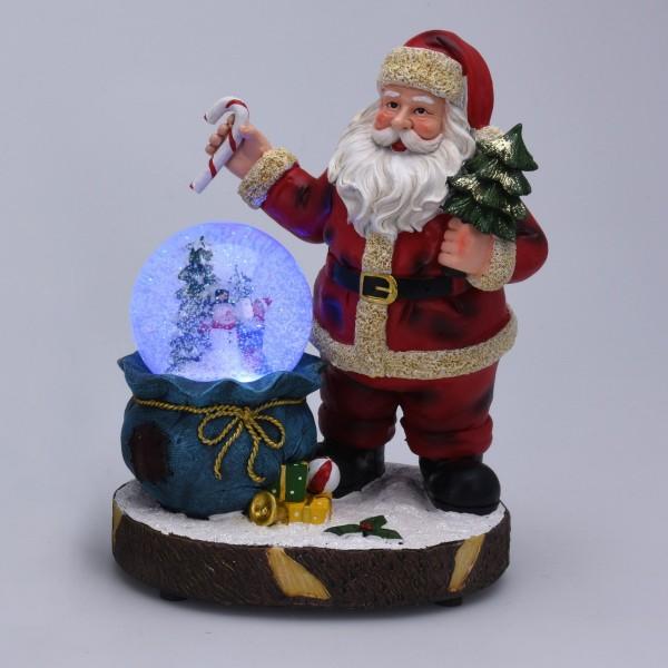 Boule à neige Père Noël et son sapin   Déco de Noël pour la maison