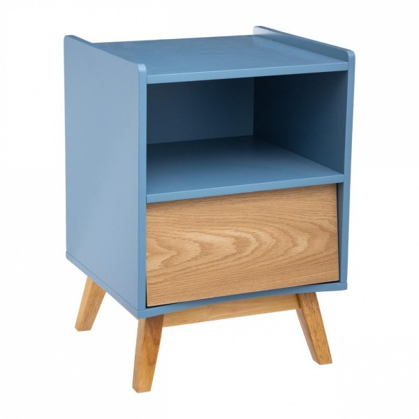 Table de chevet Elva Bleu