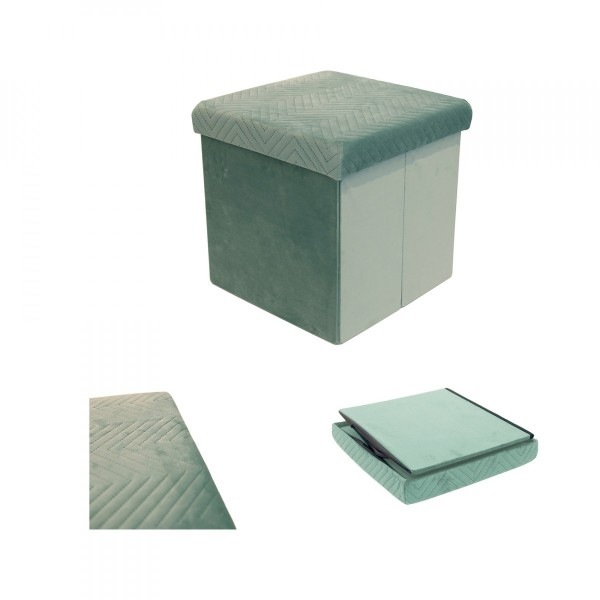Puf  plegable Margot Verde aqua