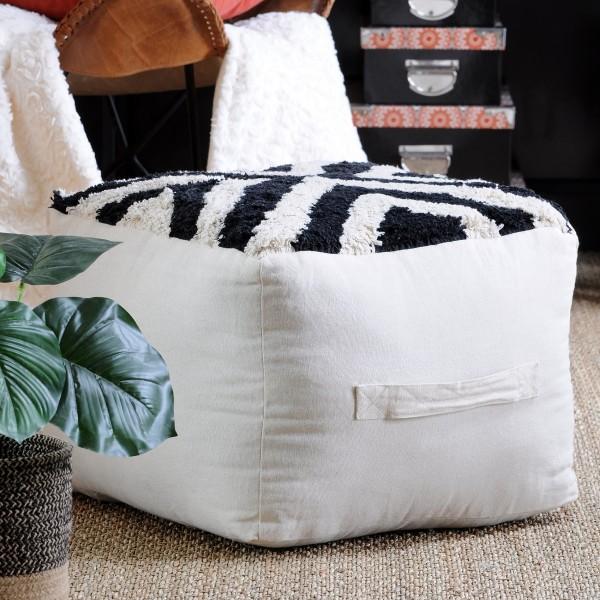 Cuscini Da Appendere.Cuscino Da Pavimento Maxi Spessore H30 Cm Burundi Nero Tessuto