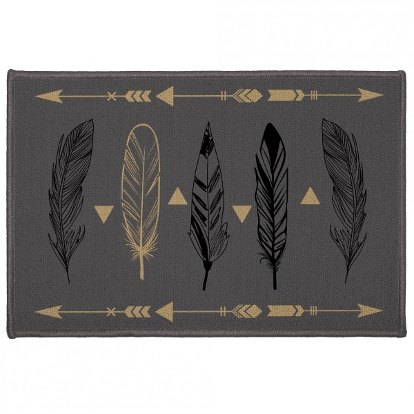 Tapis multi-usage (60 cm) Plume chic Gris