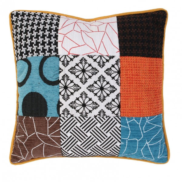 Coussin (40 cm) Micro Patchwork Multicolore