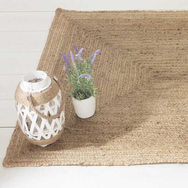 Tapis jute (170 cm) Louna Beige naturel