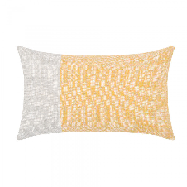 Coussin rectangulaire Malte Jaune moutarde