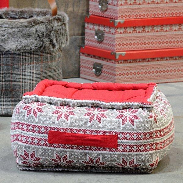 Cuscino Da Pavimento Maxi Spessore H30 Cm Chandail Rosso Tessuto Decorativo Eminza