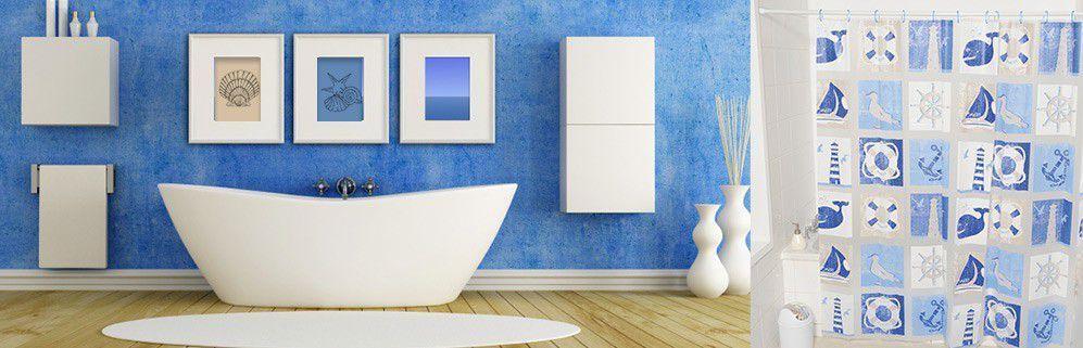 Eminza - Bagno blu e bianco ...