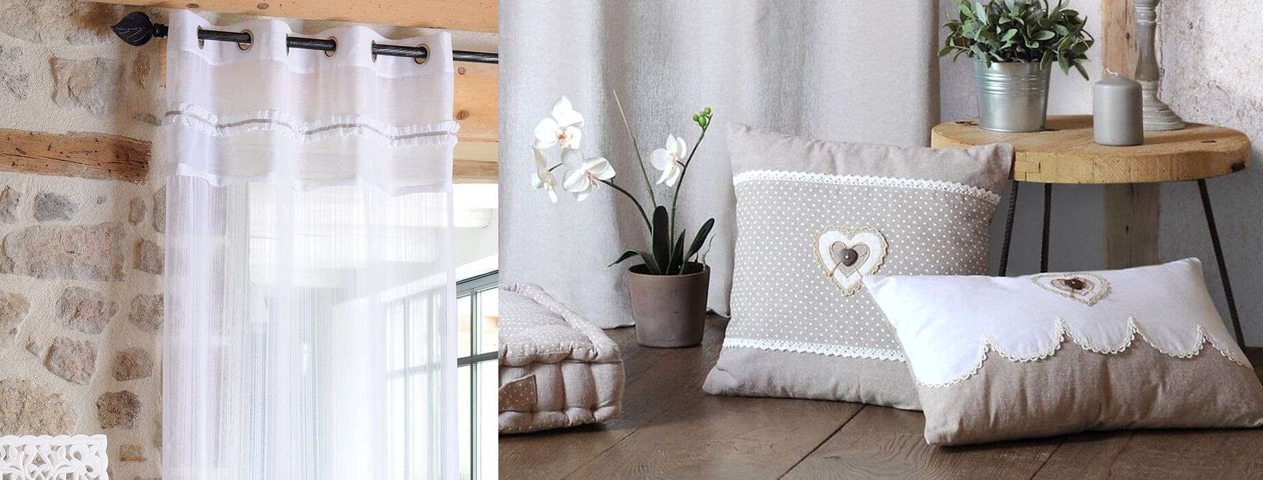 Biancheria per la casa country chic