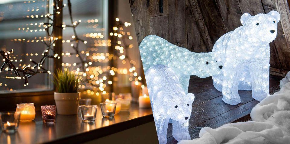 Couleur modification LED glace crèche lumineuse décoration de Noël Décoration