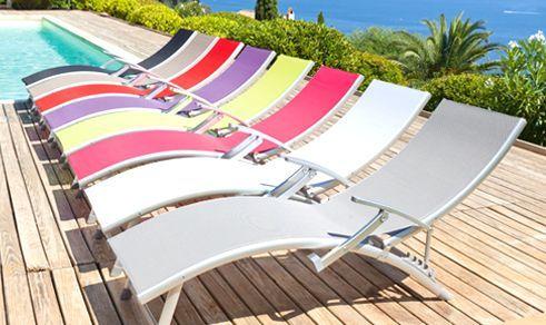 Bains de soleil color�s pour profiter du soleil