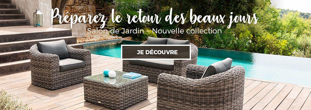 mobilier de jardin salon de jardin bain de soleil tonnelle eminza. Black Bedroom Furniture Sets. Home Design Ideas