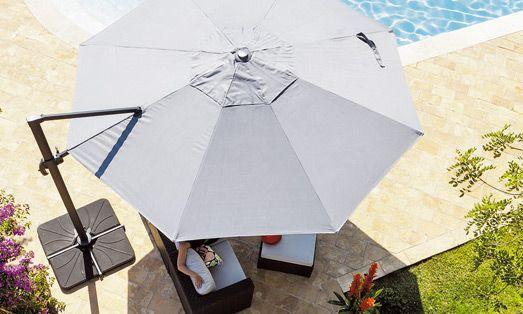 SOLDES parasols, voiles et paravents