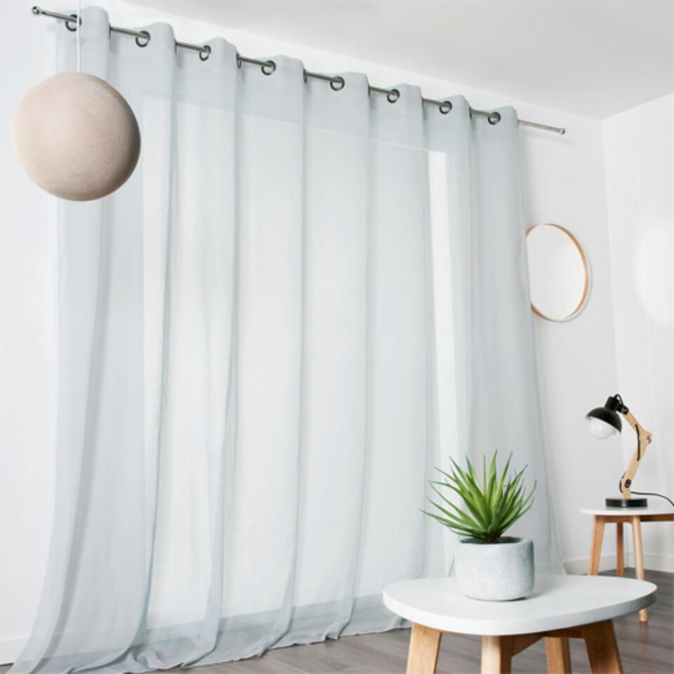 voilage baie vitrée gris