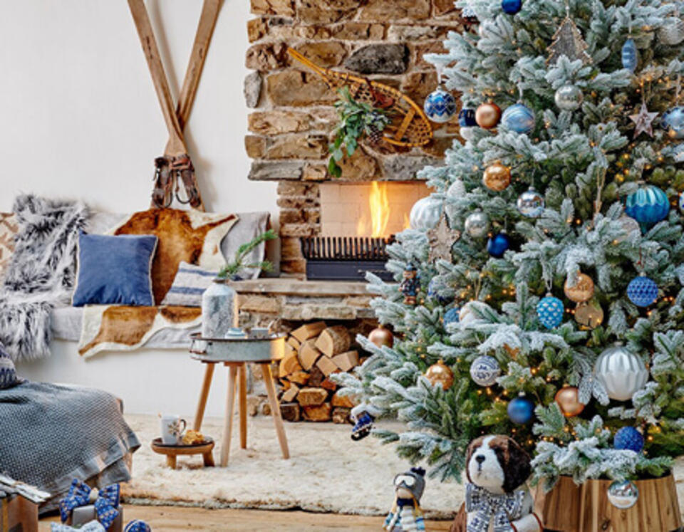 estilo Navidad montaña