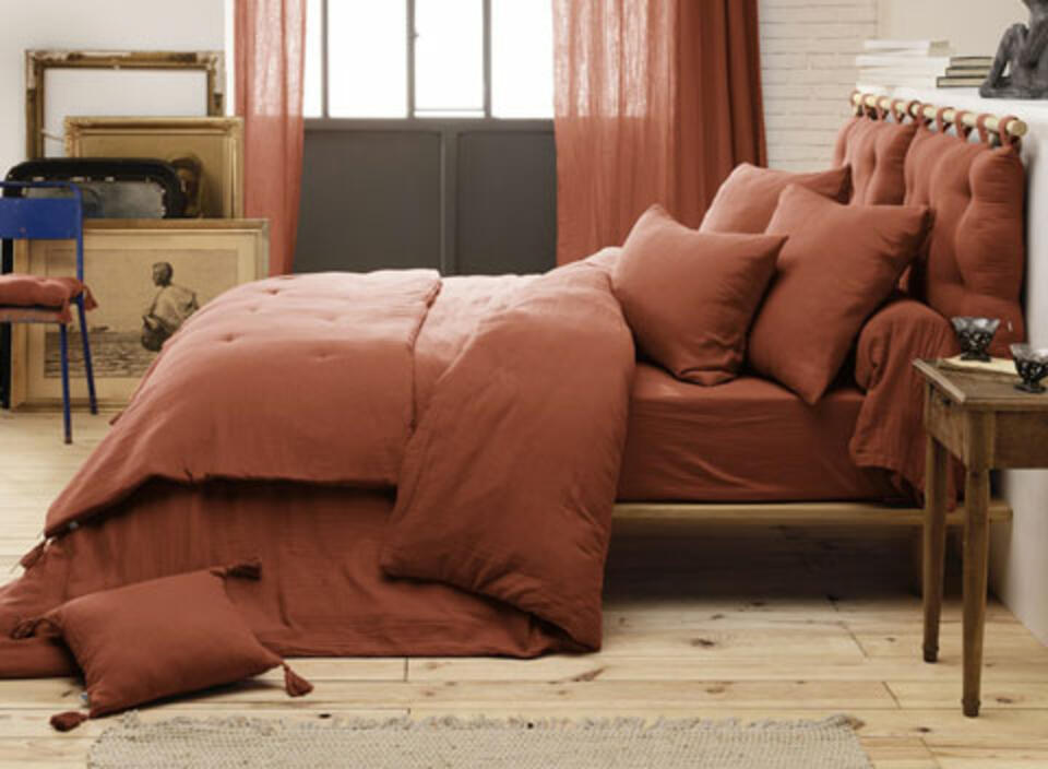 Ropa de cama terracotta