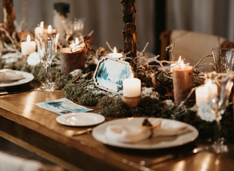 Idées table de Noël nature