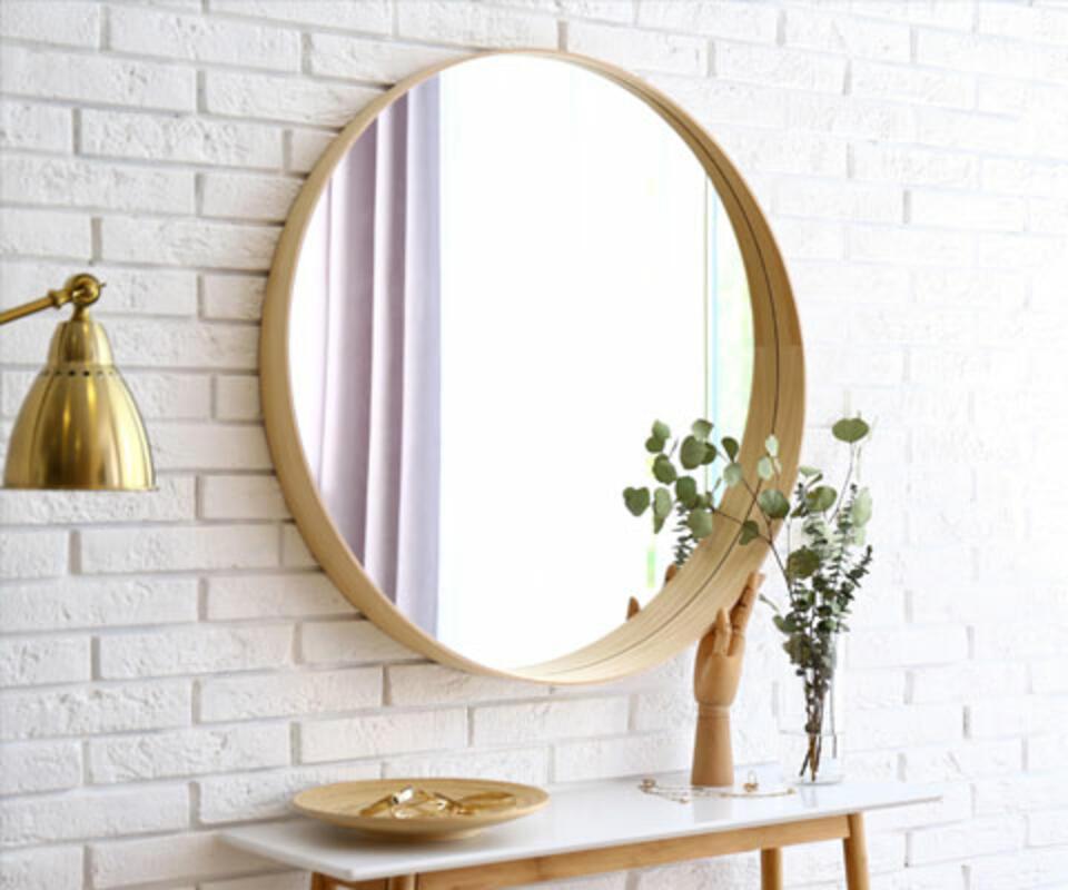 miroir rond entrée