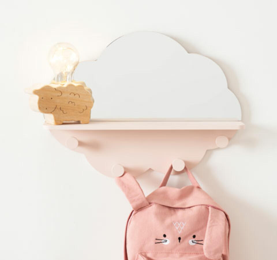 Perchero nube para la habitación del bebé