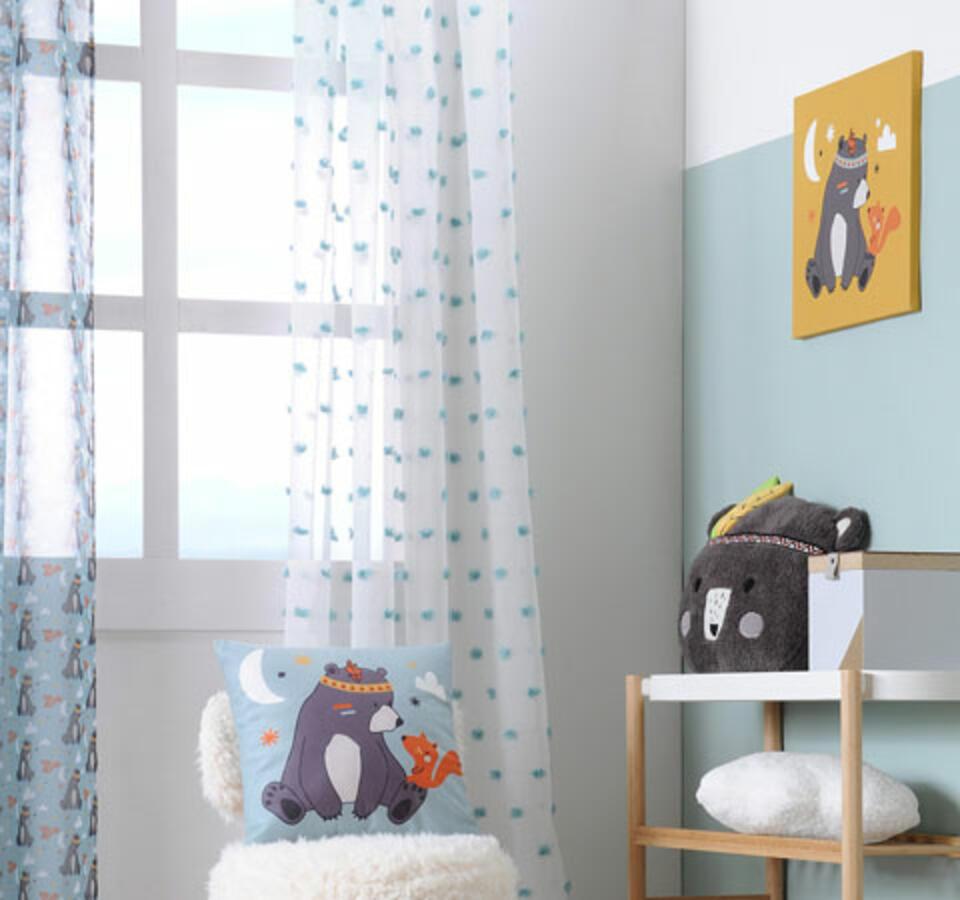 habitación bebé verde agua