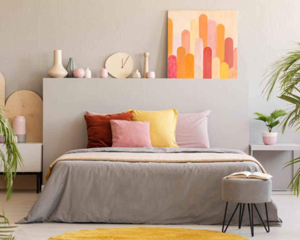 Cabecero de cama decorativo