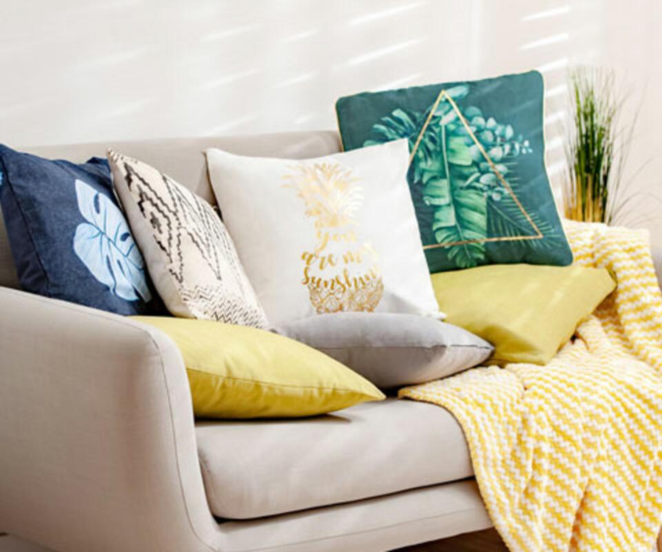 cojín para sofá