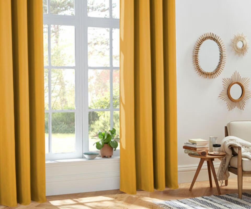 rideau isolant jaune