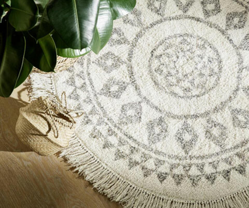 alfombra redonda para sala