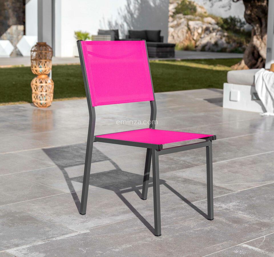 chaise en aluminium et texaline