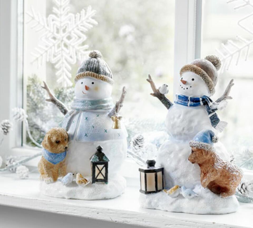 addobbi natalizi pupazzi di neve