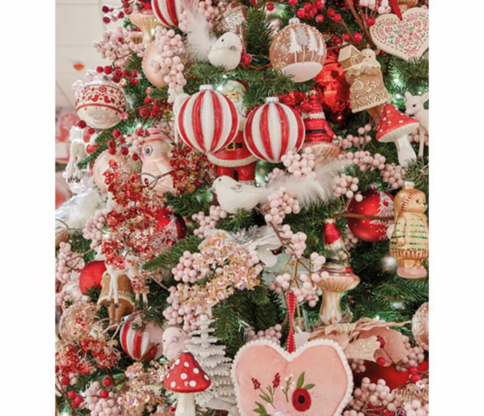addobbi albero di Natale rossi