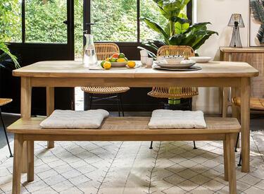 table en bois accacia
