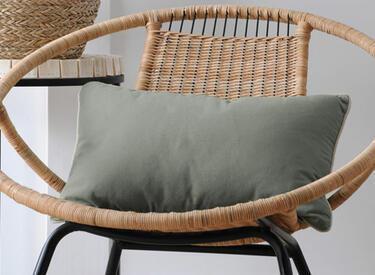 cuscino rettangolare verde cachi
