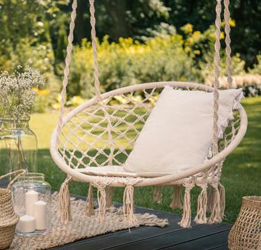 silla colgante de jardín