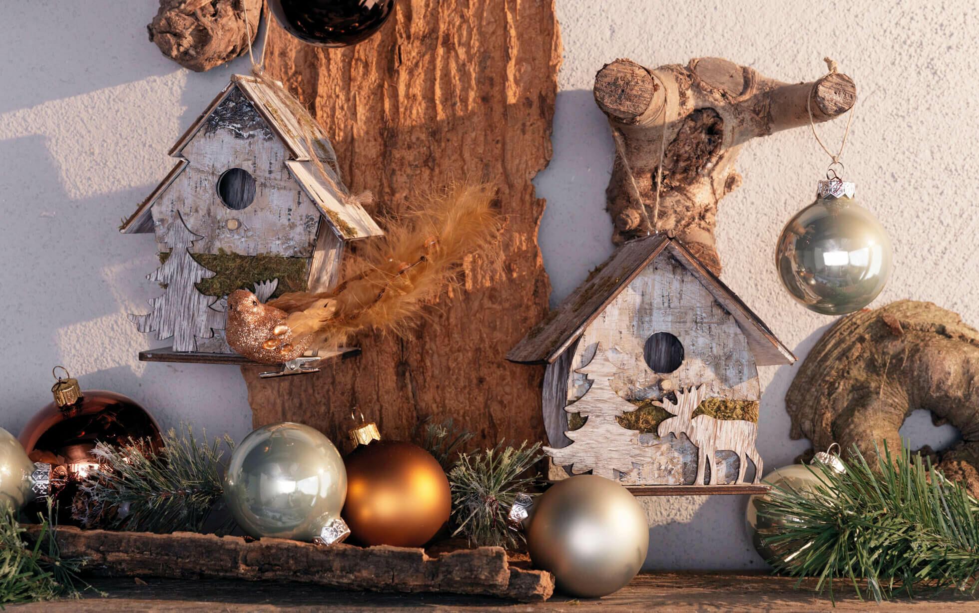 ideas de decoración natural de Navidad